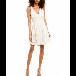 Halston Heritage Mini Dress in Cream
